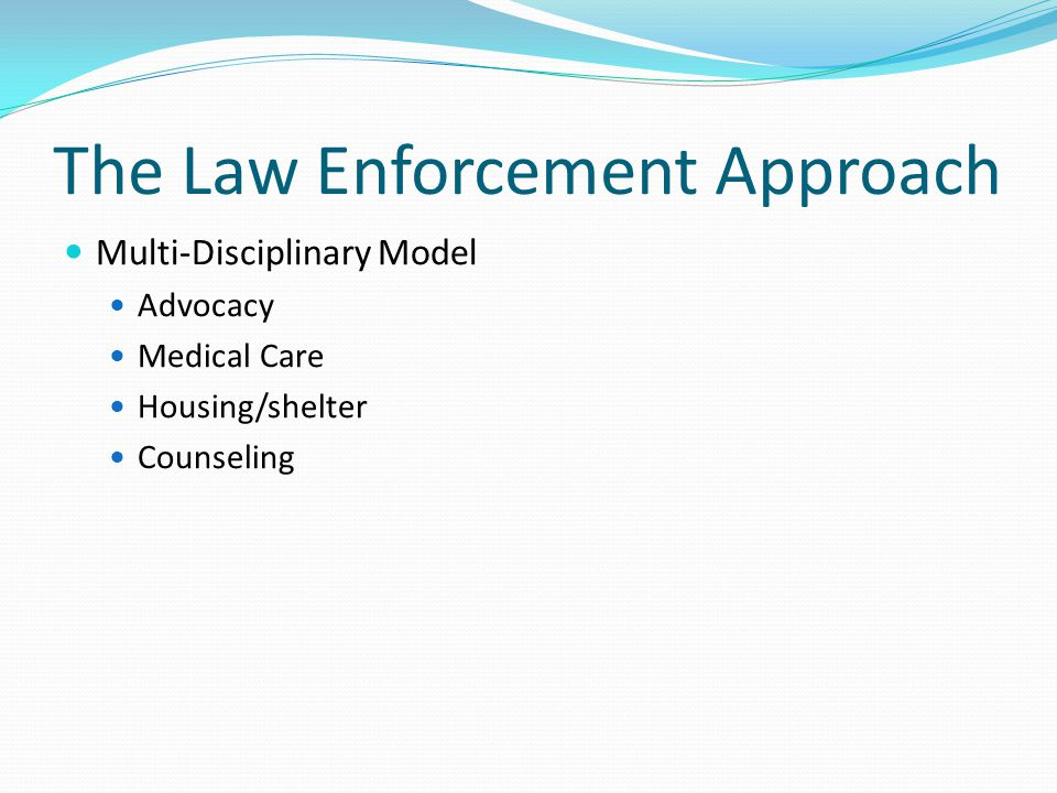 The Law Enforcement Approach