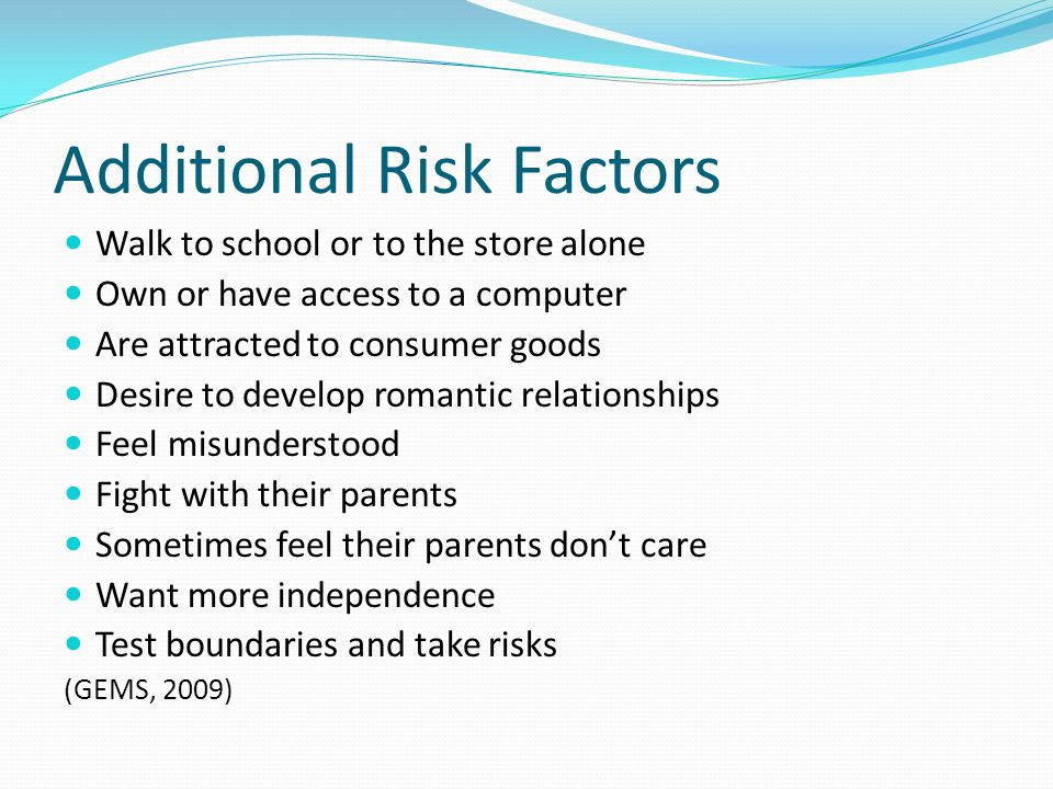 Additional Risk Factors