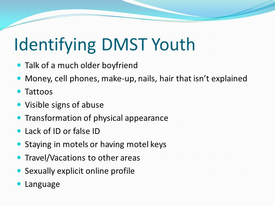 Identifying DMST Youth