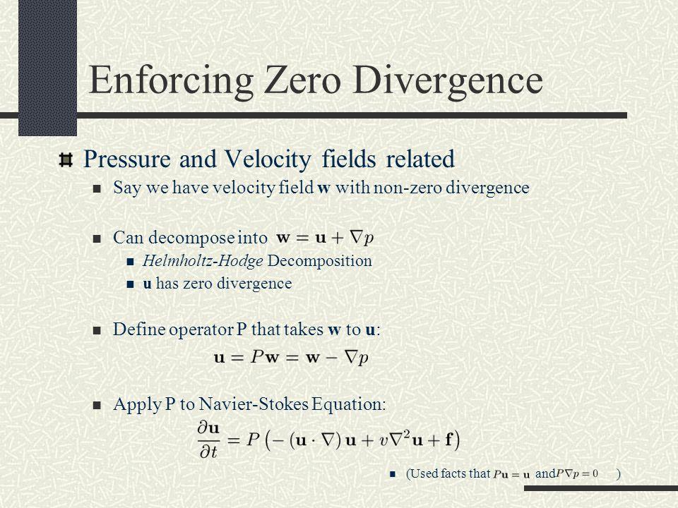 Enforcing Zero Divergence