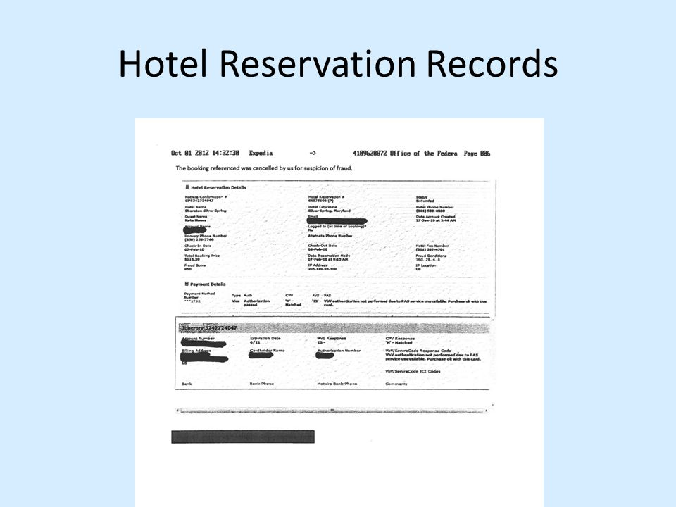 Hotel Reservation Records