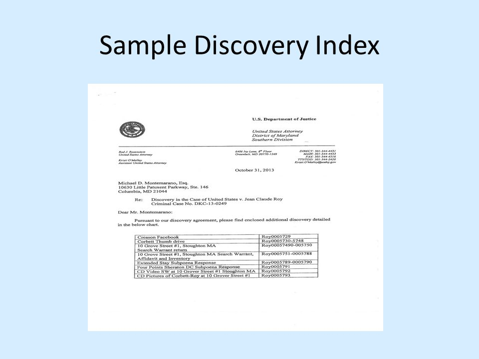 Sample Discovery Index