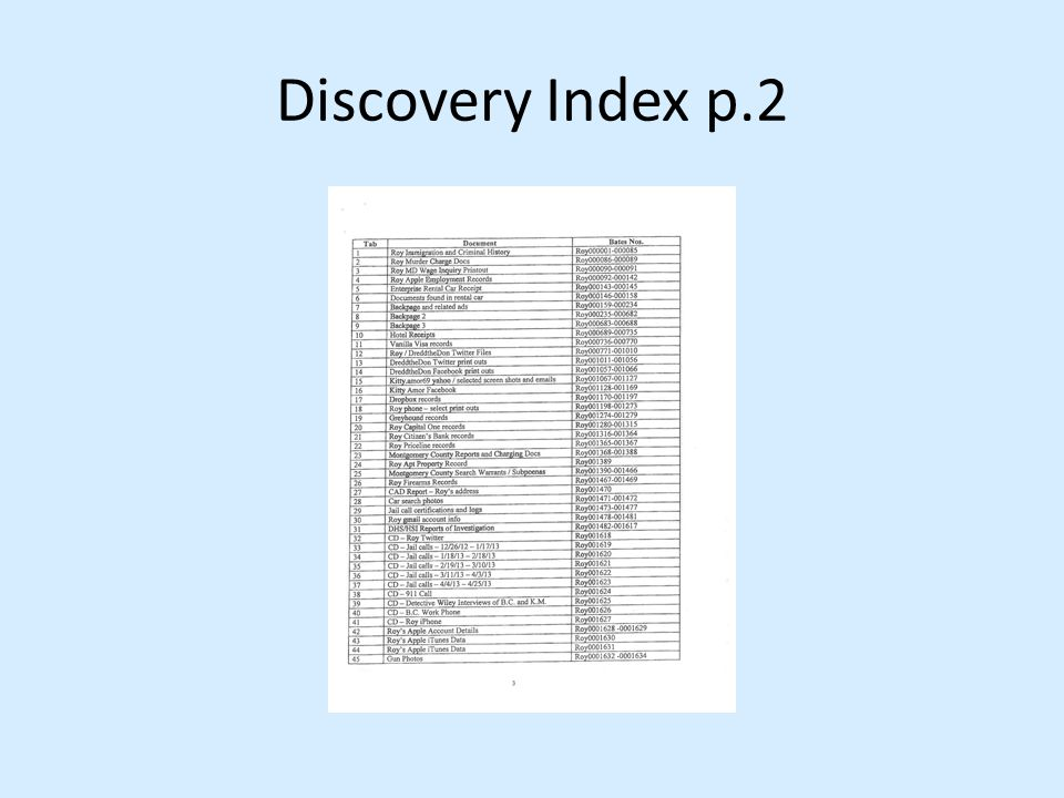 Discovery Index p.2