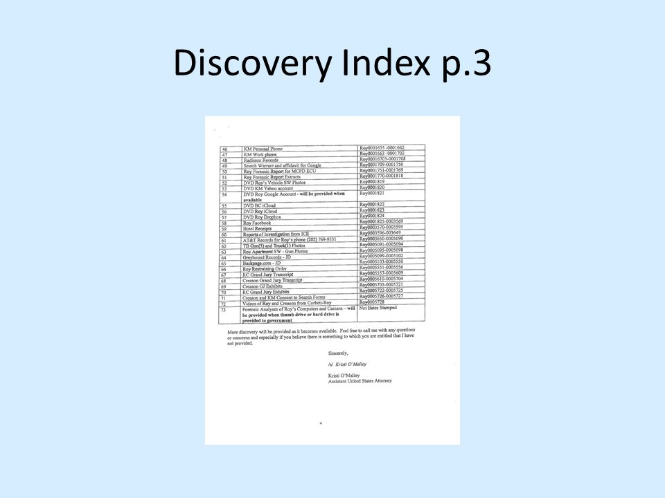 Discovery Index p.3