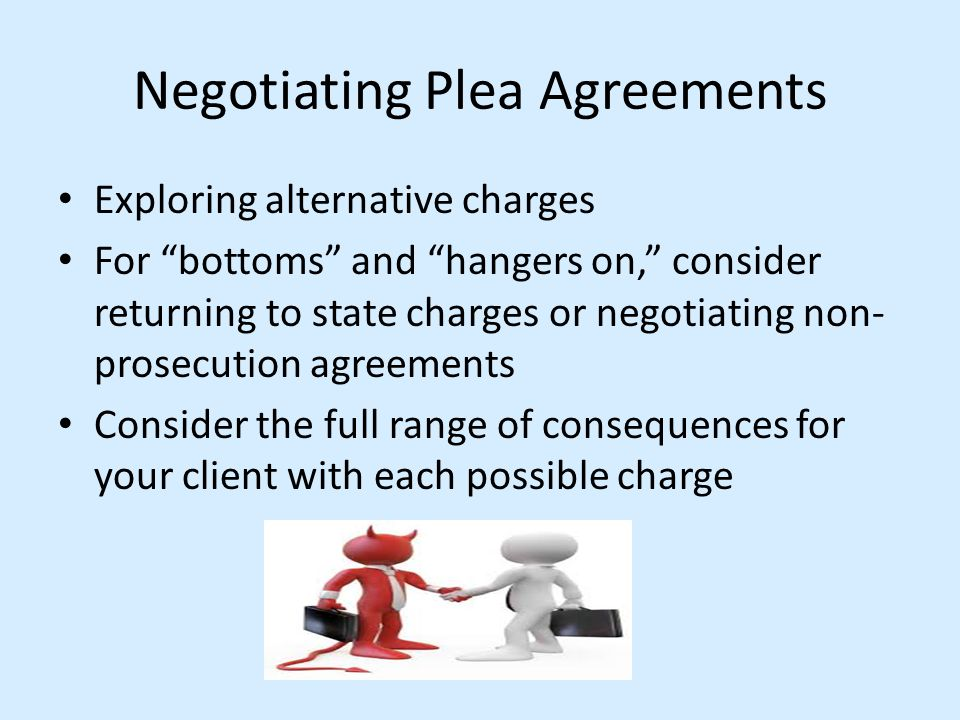Negotiating Plea Agreements