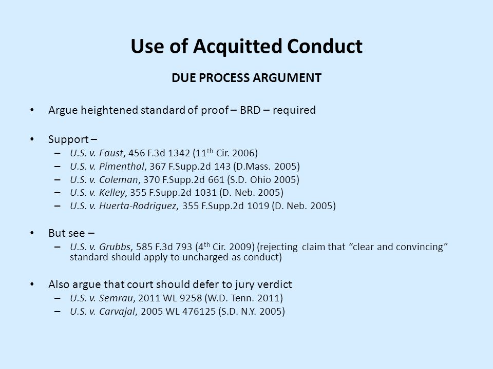 Use of Acquitted Conduct
