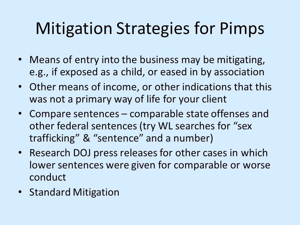 Mitigation Strategies for Pimps