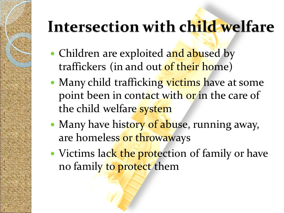Intersection with child welfare
