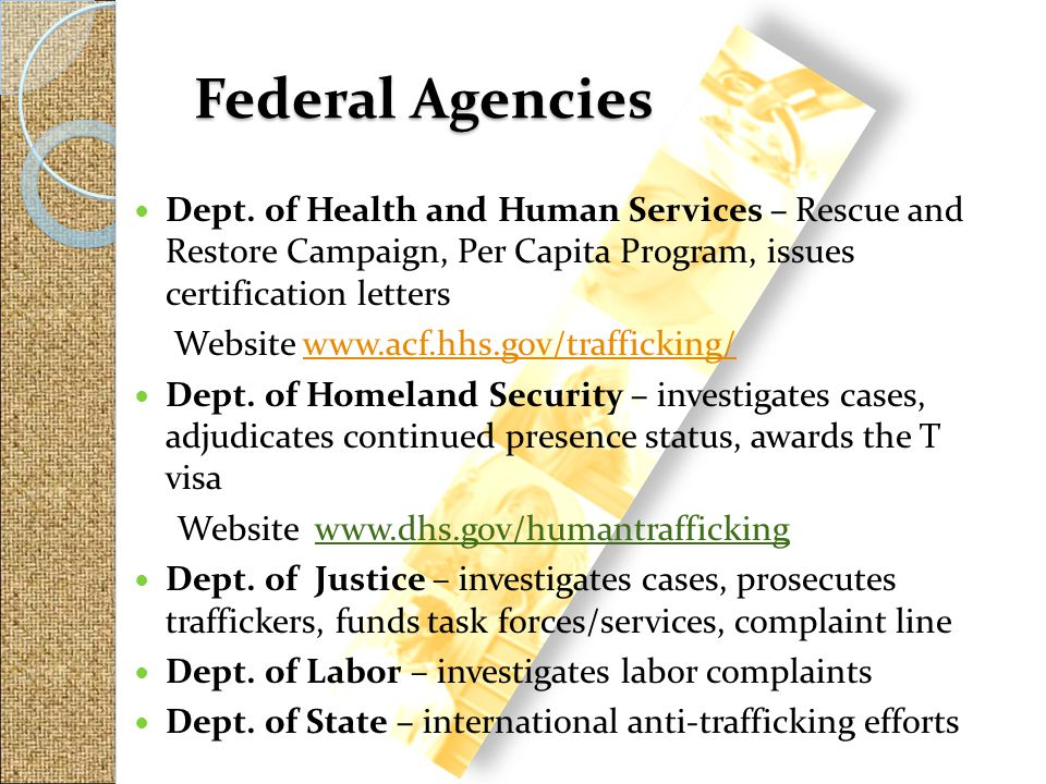 Federal Agencies Dept. of Health and Human Services – Rescue and Restore Campaign, Per Capita Program, issues certification letters.