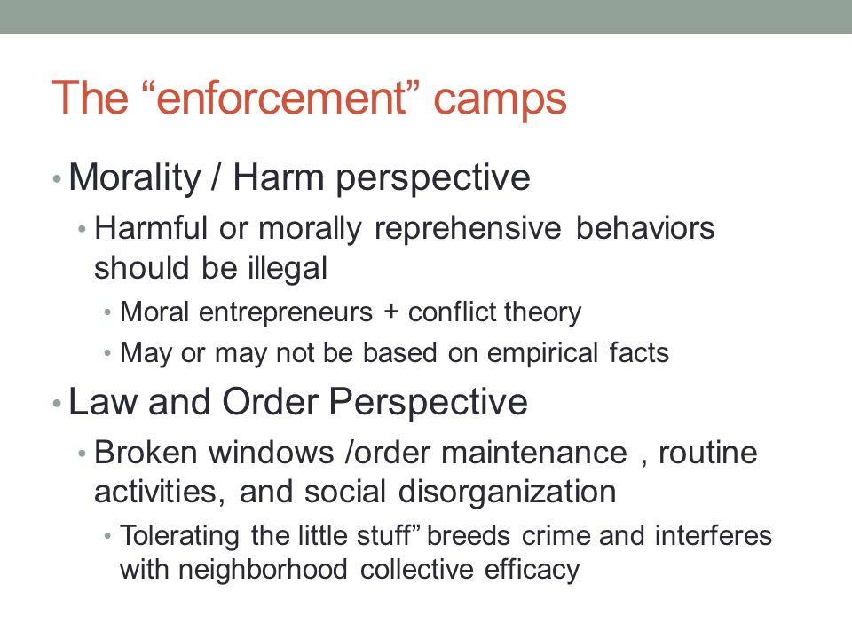 The enforcement camps