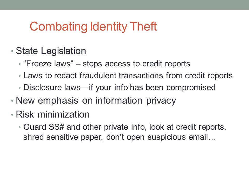 Combating Identity Theft