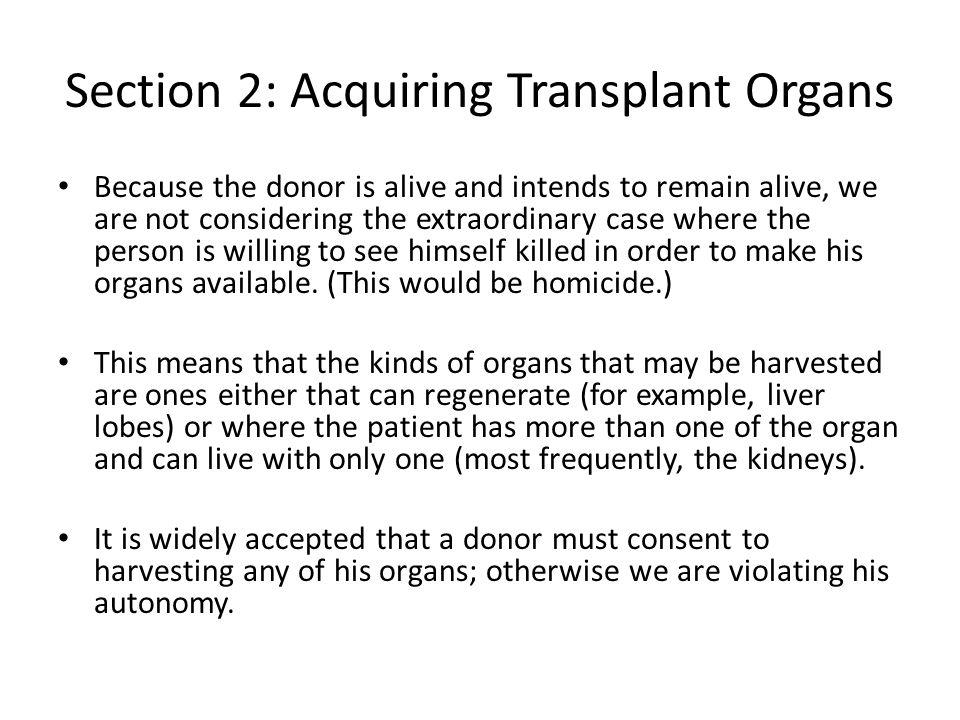 Section 2: Acquiring Transplant Organs