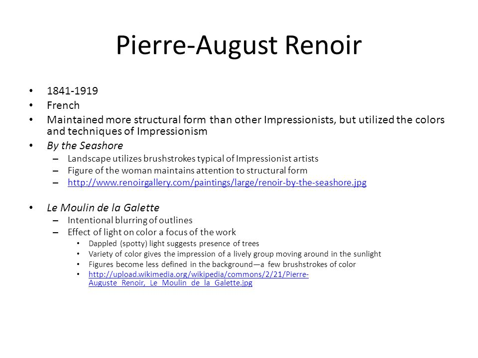 Pierre-August Renoir 1841-1919 French