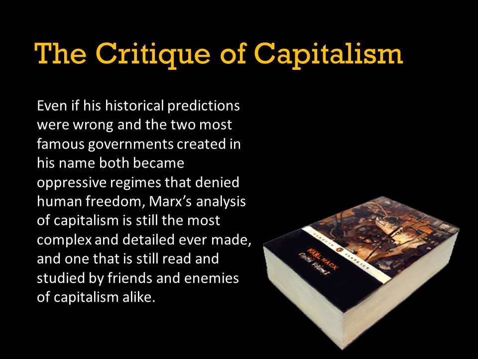 The Critique of Capitalism