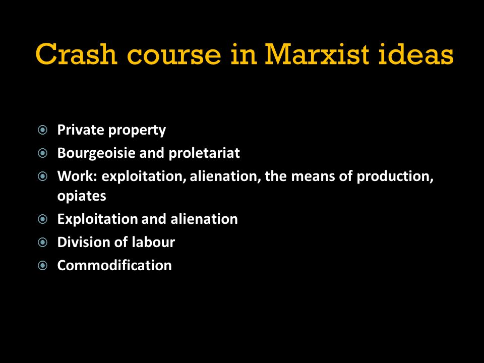 Crash course in Marxist ideas