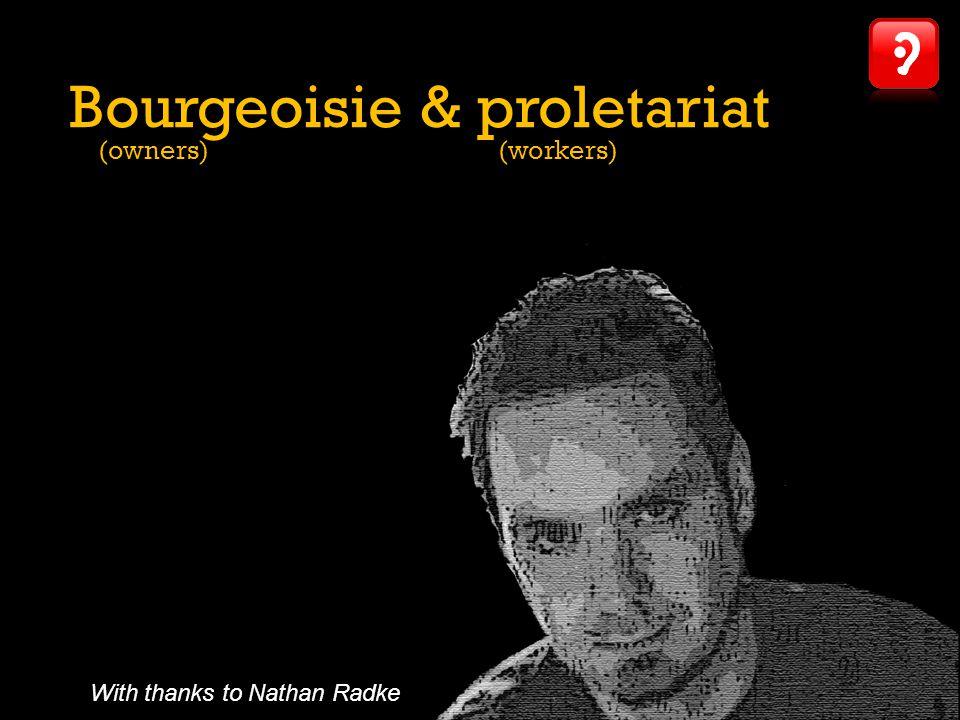 Bourgeoisie & proletariat