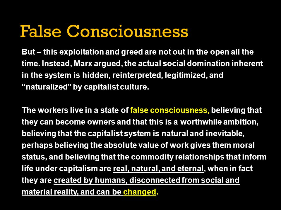 False Consciousness