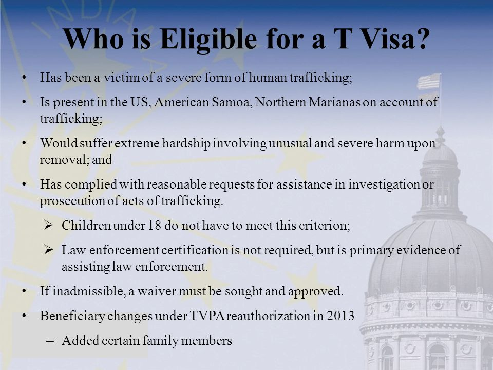 Who is Eligible for a T Visa
