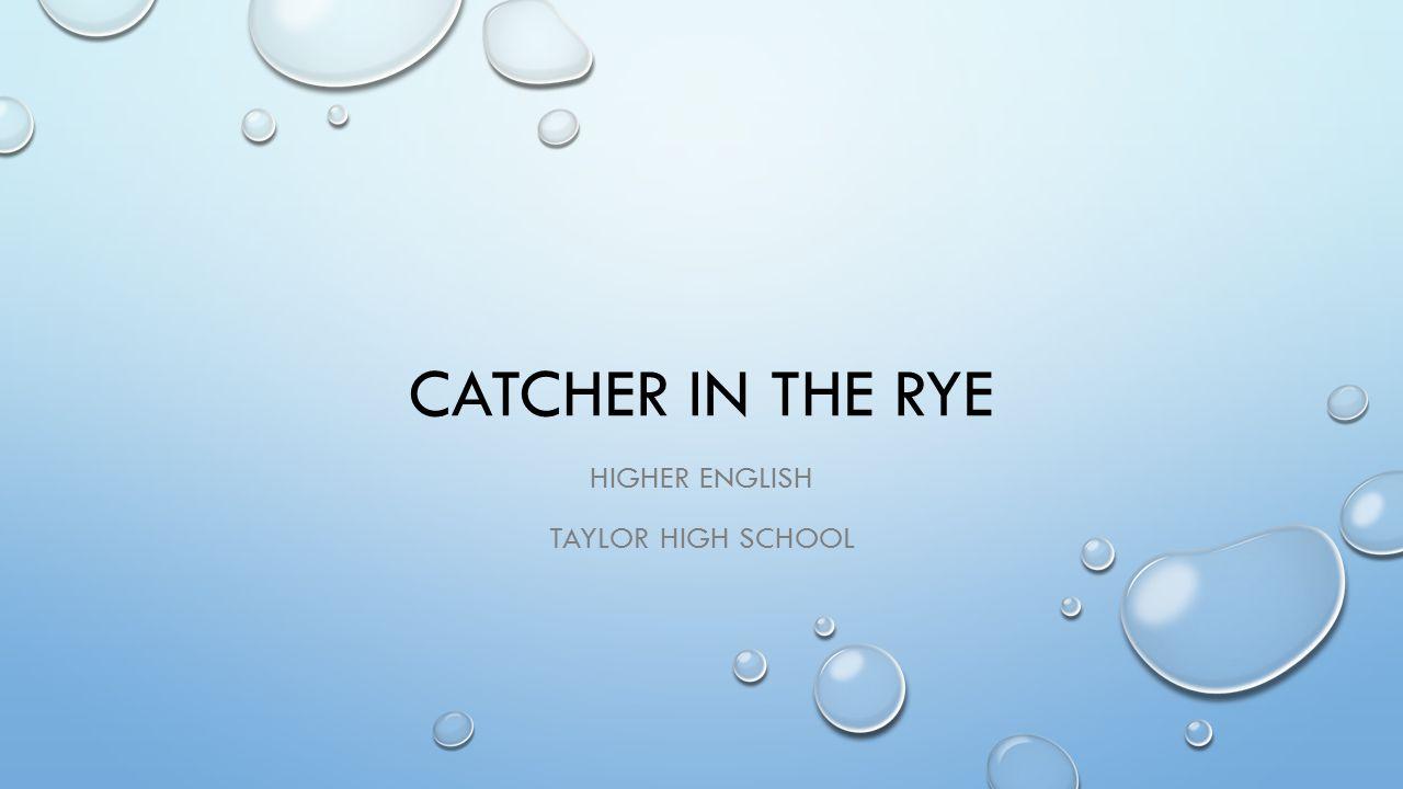 Higher English Taylor High School