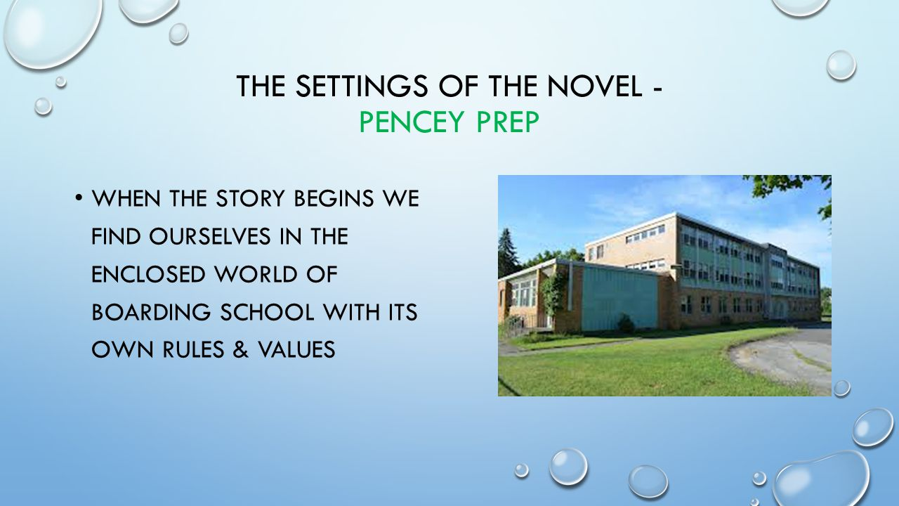 The settings of the novel - Pencey prep