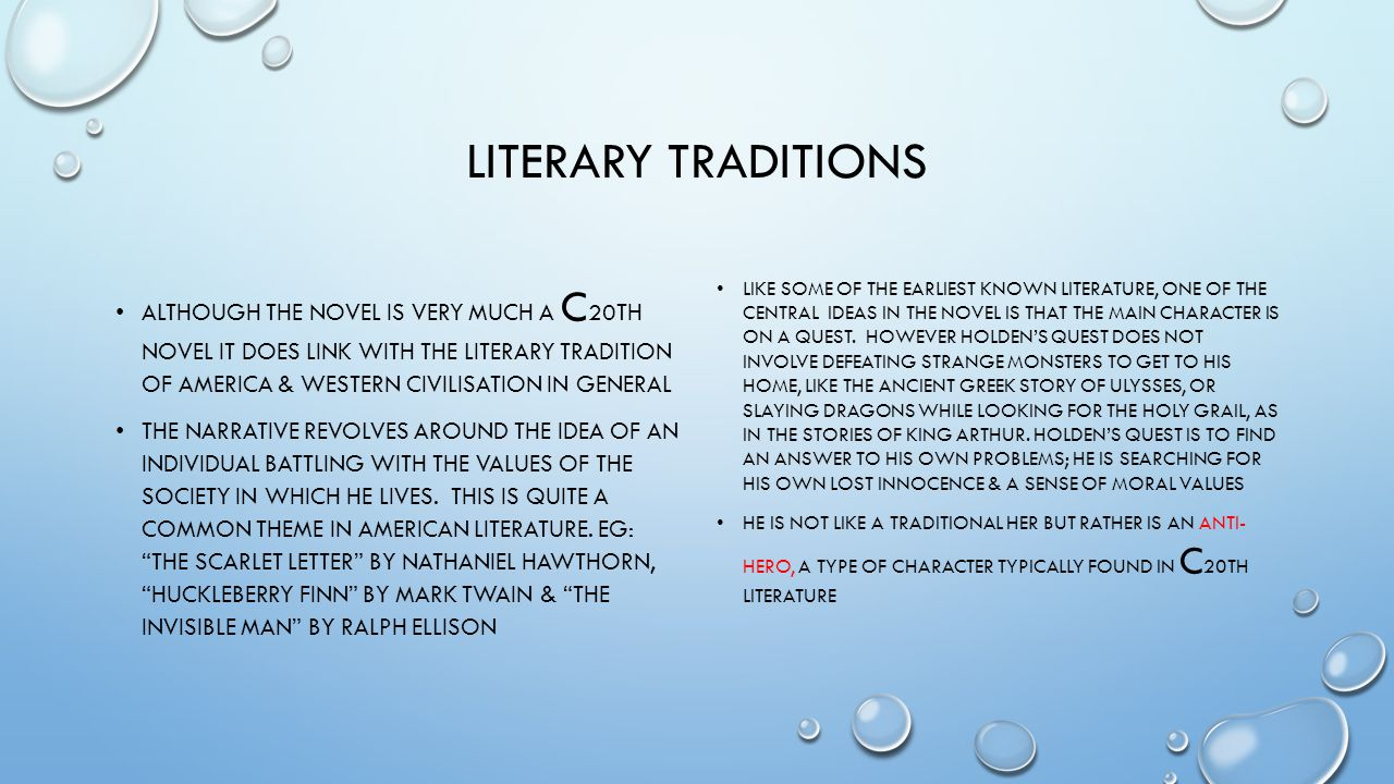 Literary traditions