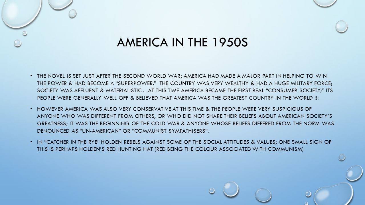 America in the 1950s