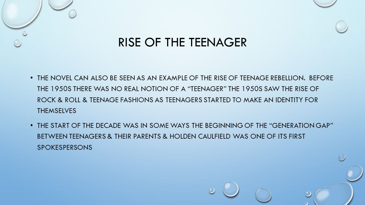 Rise of the teenager