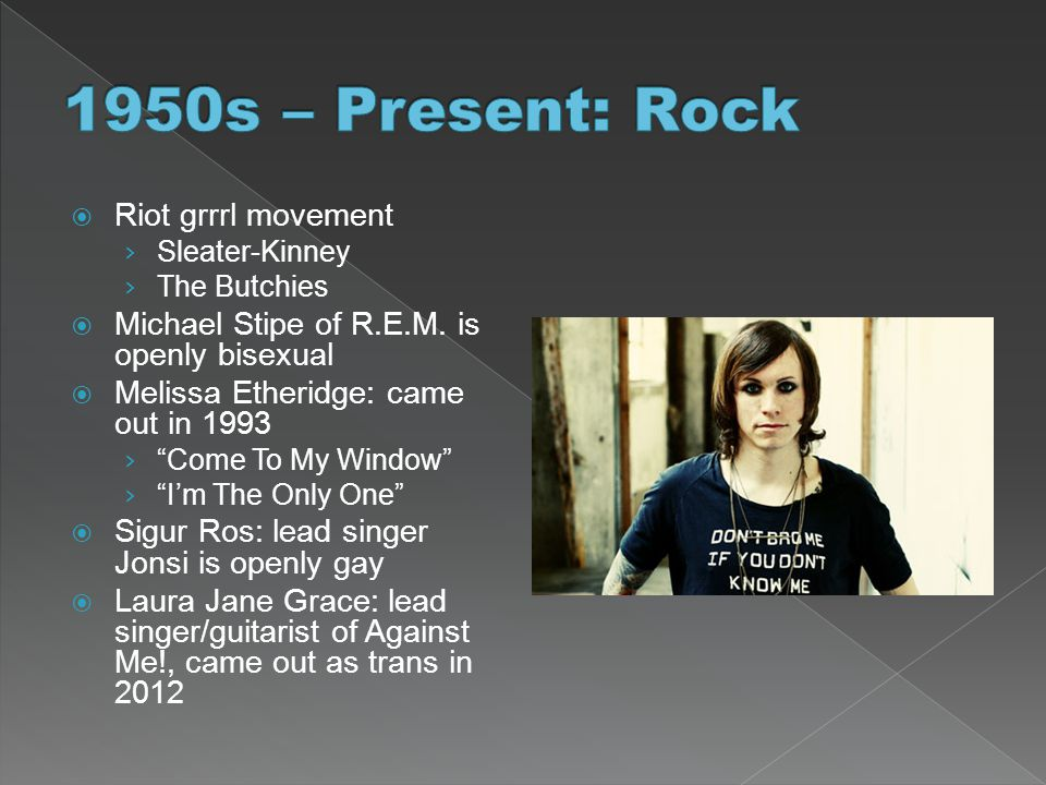 1950s – Present: Rock Riot grrrl movement