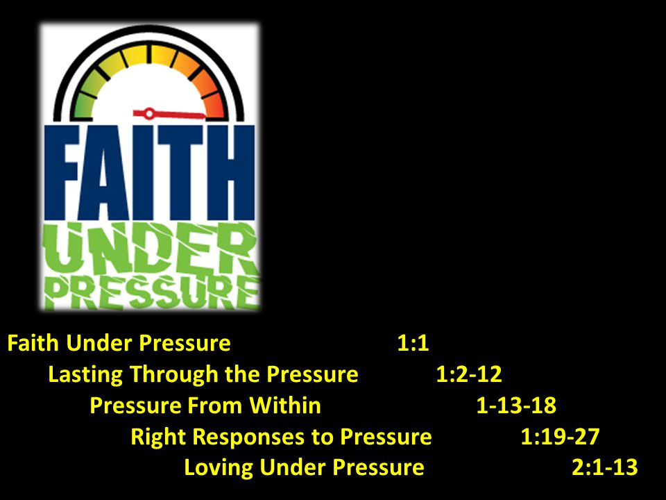 Faith Under Pressure 1:1 Lasting Through the Pressure 1:2-12.