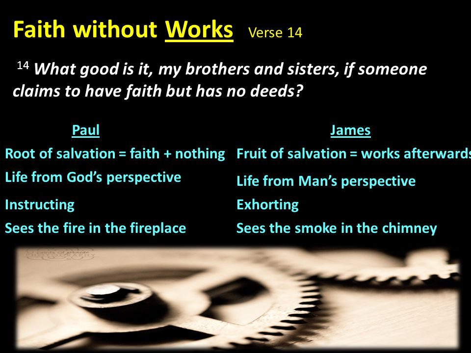 Faith without Works Verse 14