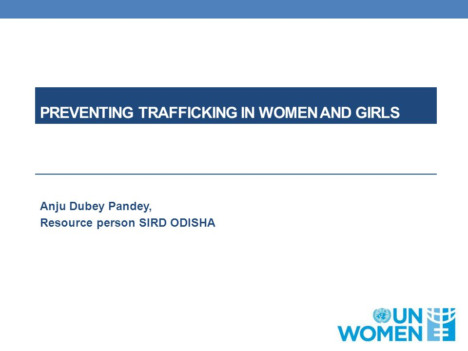 Preventing trafficking in women and girls