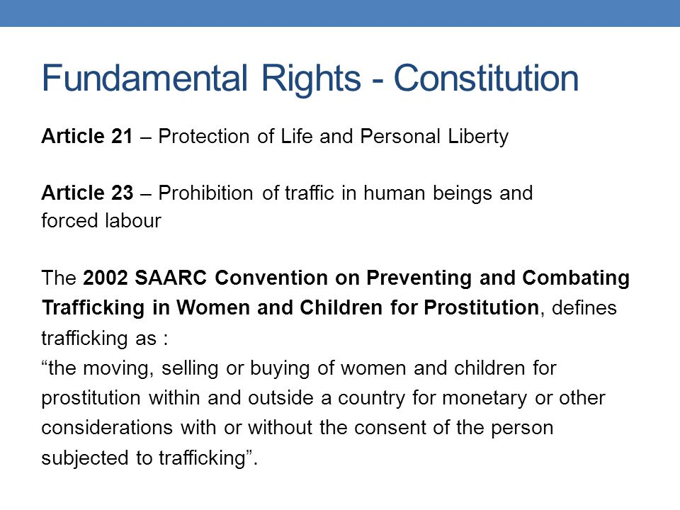 Fundamental Rights - Constitution