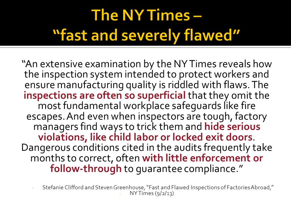 The NY Times – fast and severely flawed