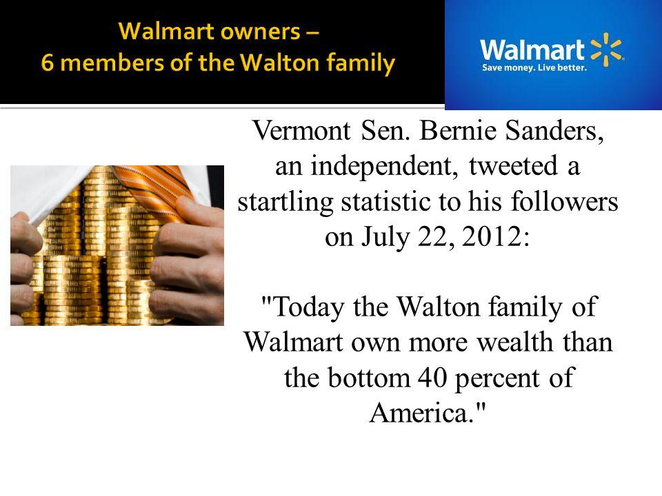 Walmart owners – 6 members of the Walton family