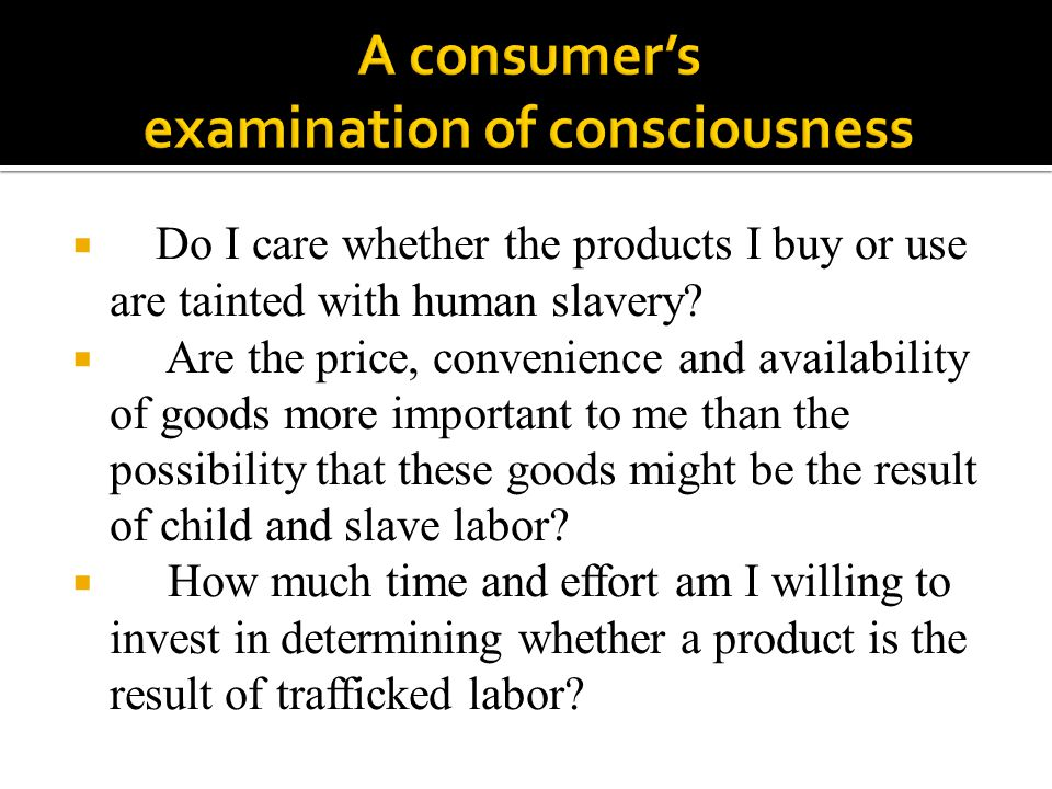 A consumer's examination of consciousness