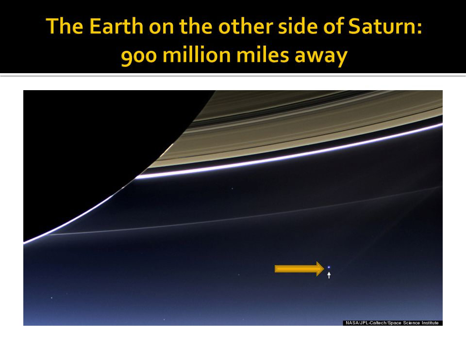The Earth on the other side of Saturn: 900 million miles away