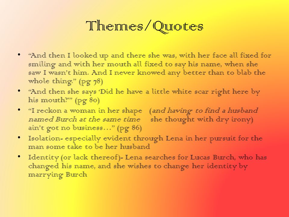 Themes/Quotes