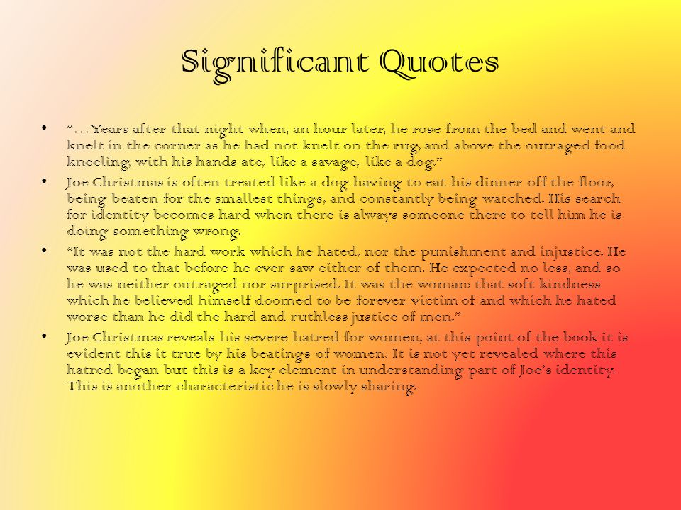 Significant Quotes