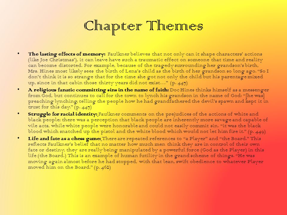 Chapter Themes