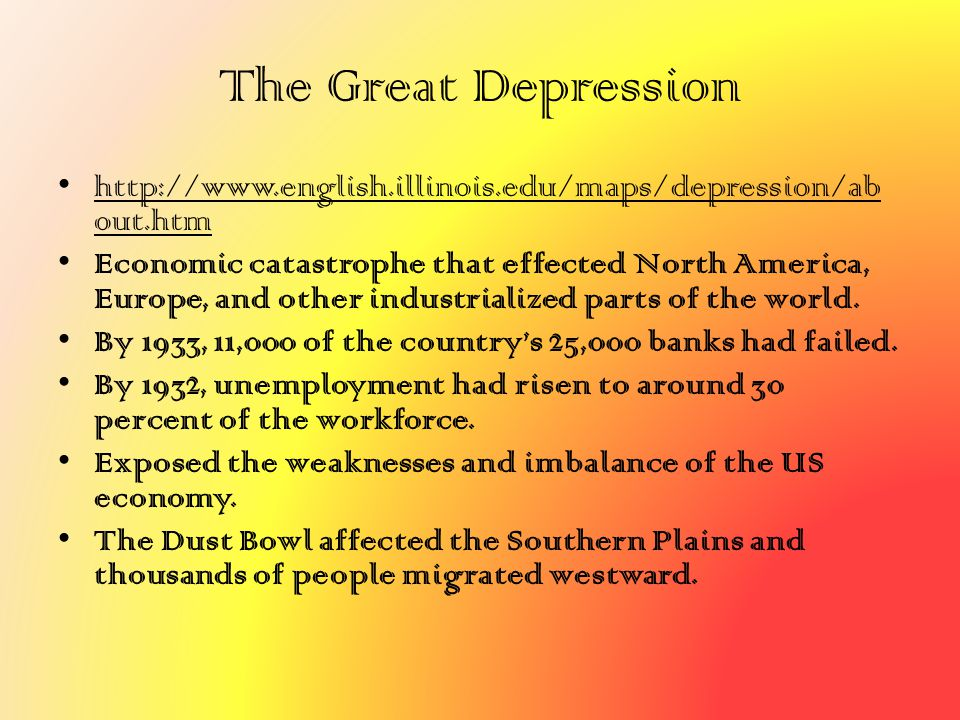 The Great Depression http://www.english.illinois.edu/maps/depression/about.htm.