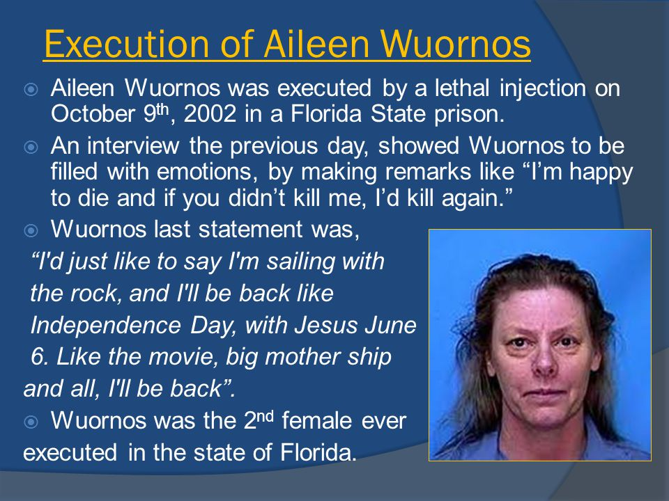 psychological look at aileen wuornos Psy 303 final paper aileen wuornos for your final paper, you will demonstrate your knowledge of psychopathology and apply your skills to a realistic scenario.