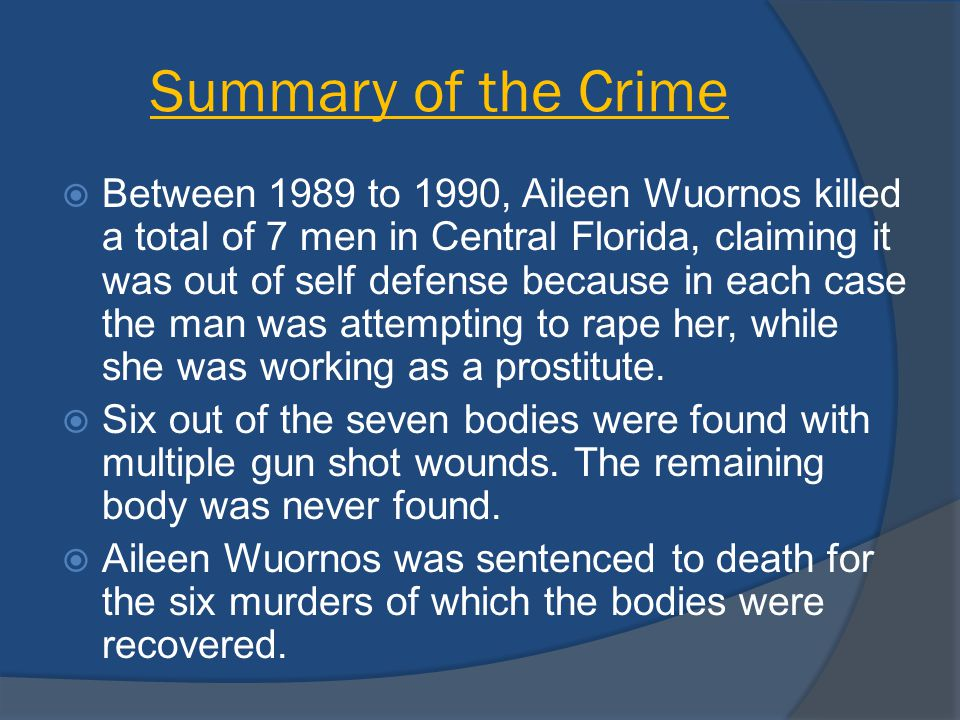 Summary of the Crime