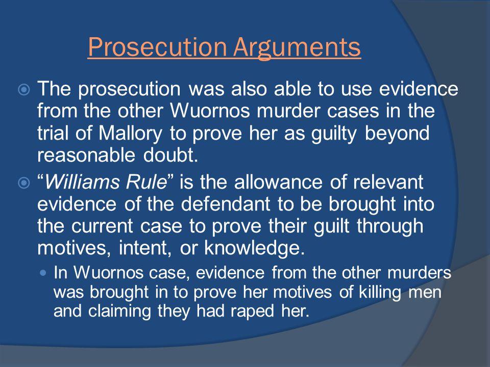 Prosecution Arguments