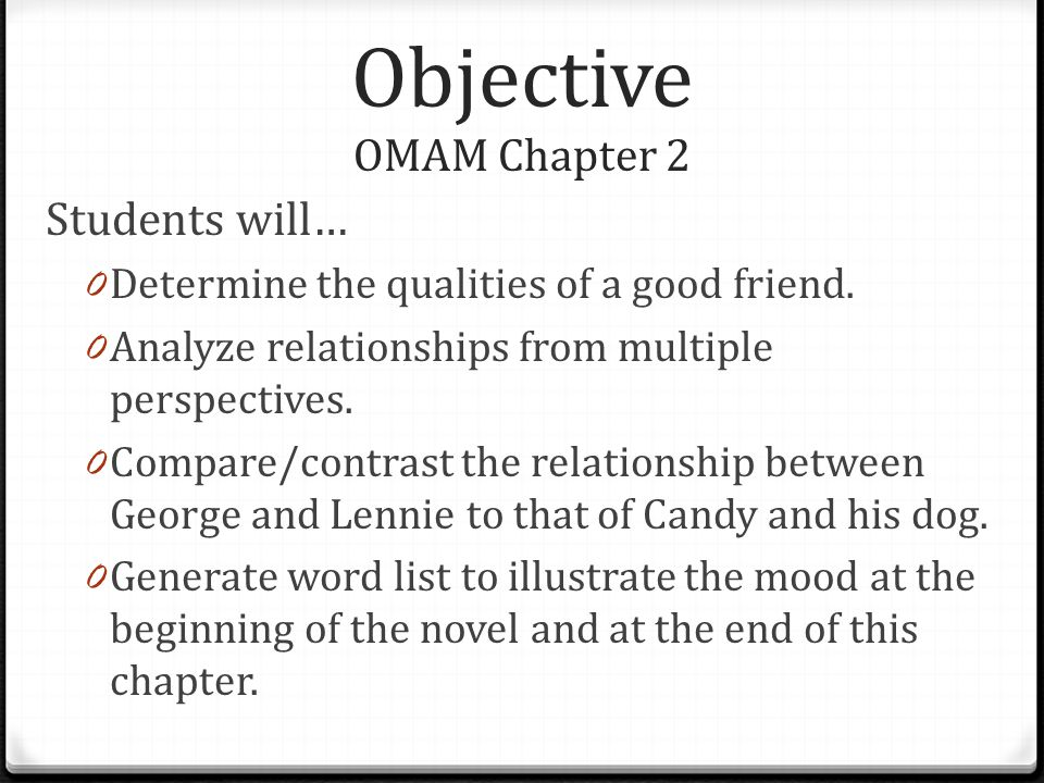 Objective OMAM Chapter 2