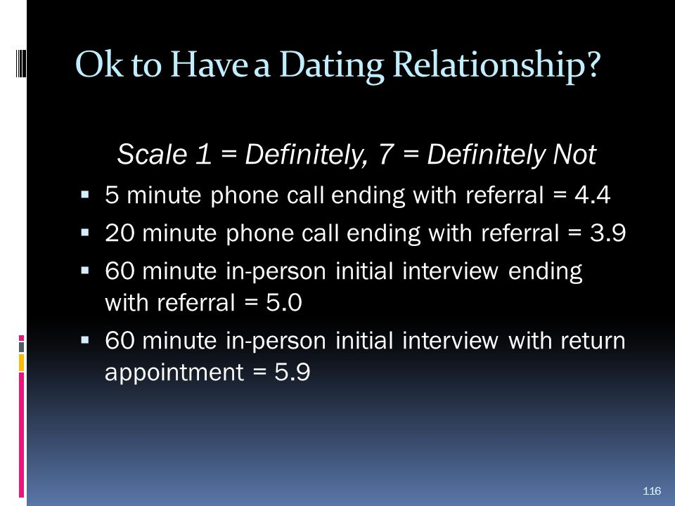 Ok to Have a Dating Relationship