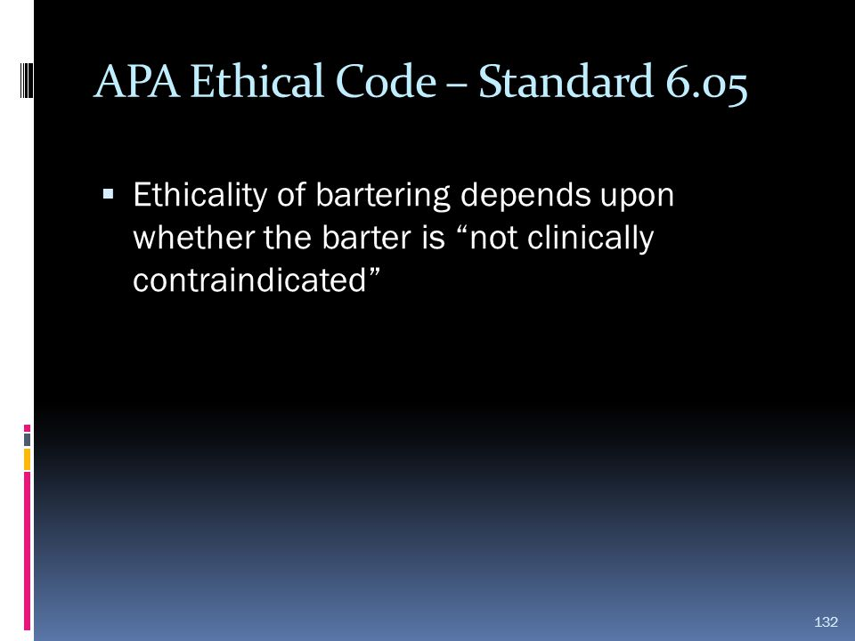 APA Ethical Code – Standard 6.05
