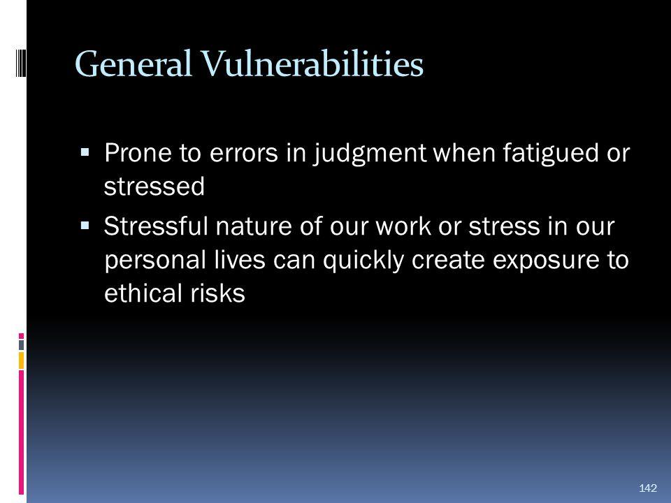 General Vulnerabilities
