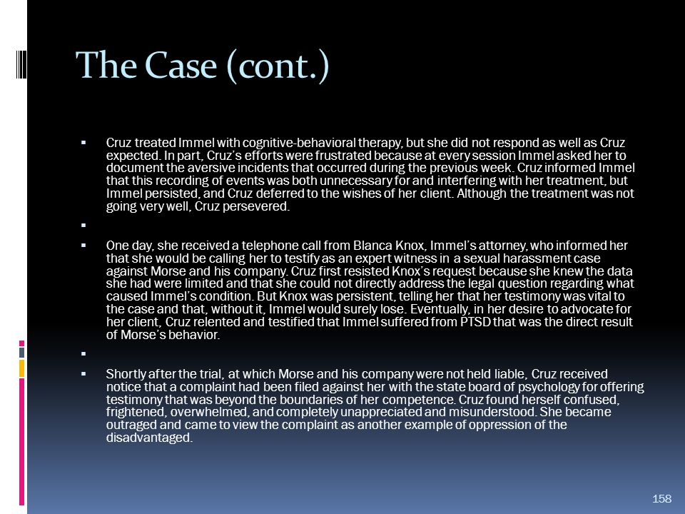 The Case (cont.)