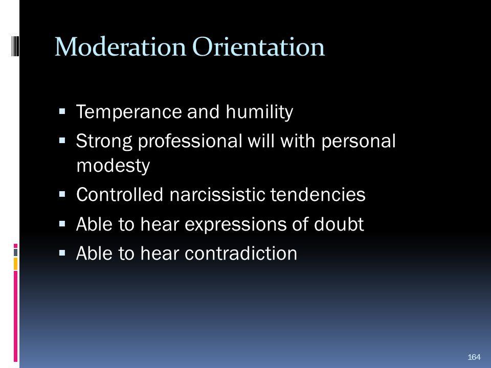 Moderation Orientation