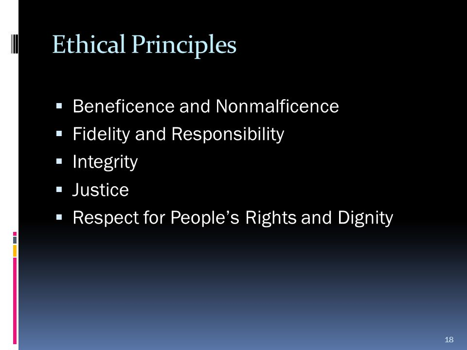 Ethical Principles Beneficence and Nonmalficence